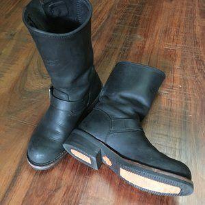 Harley Davidson black leather riding boots